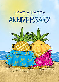 Annie Lang's Milestone greeting cards for birthday, anniversary, grads, retirement and more!