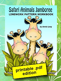 Safari Animals Jamboree Linework Pattern Book PDF