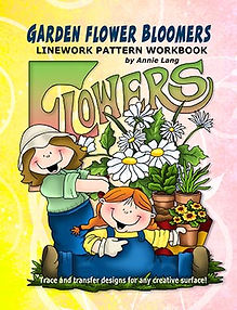 Annie Lang's Garden Flower Bloomers Linework Pattern Book Cover
