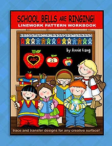 School Bells are Ringing Linework Pattern Book Sample Page