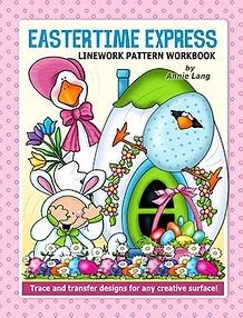 Eastertime Express Linework Pattern Book Cover
