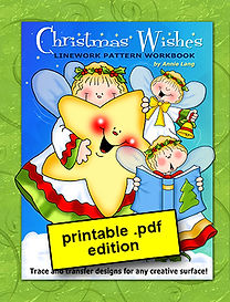 Annie Lang's Christmas Wishes Line Art Pattern Book PDF