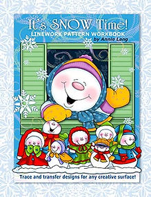 It's Snow Time! Linework Pattern Book Cover