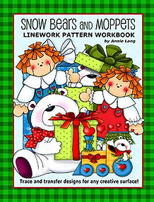 Annie Lang's Snow Bears and Moppets Linework Pattern Book
