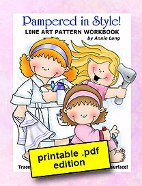 Annie Lang's Pampered in Style Line Art Pattern book PDF