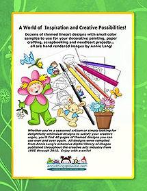 Spring Frolics Linework Pattern Book Back Cover
