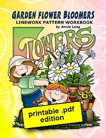 Garden Flower Bloomers Linework Pattern Book PDF