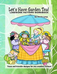 Let's Have Garden Tea Linework Pattern Book