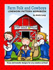 Farm Folk & Cowboys Linework Pattern Book