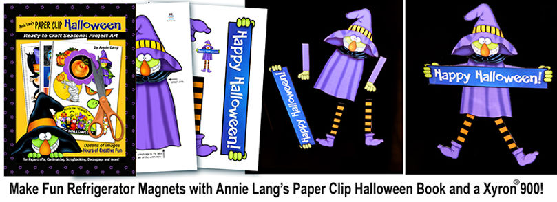 Make fun refrigerator magnets with Annie Lang's Paper Clip Halloween Project Activity Book!