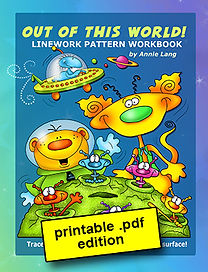 Out of this World Linework Pattern Book PDF
