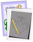 Lots and Lots of Teapots and more Line Art Pattern Books by Annie Lang