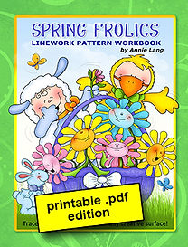 Spring Frolics Linework Pattern Book PDF