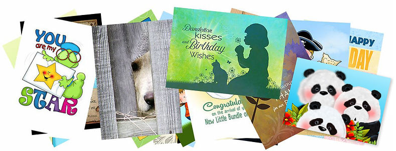 Annie Lang greeting card designs available at Signedcards.com and greeting card universe