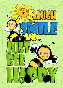 Just Bee Happy and More Everyday greeting cards by Annie Lang