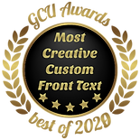 Annie Lang's Most Creative Custom Front Greeting Card Universe award for best of 2020