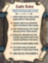 Annie Lang's Medieval Castle Rules Signage Sample