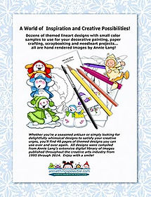 It's Snow Time Linework Pattern Book Back Cover