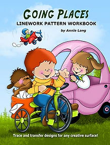 Annie Lang's Going Places Linework Pattern Book Cover
