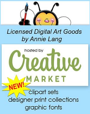 You'll find Annie Lang's Licensed Digital Art Goods at Creative Market!