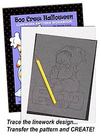 Boo Crew Linework Pattern Sample Page