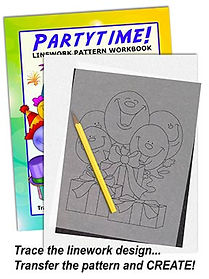 Partytime! Linework Pattern Sample Page