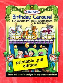 Big Top Birthday Linework Pattern PDF
