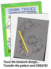 Spring Frolics Linework Pattern Sample Page