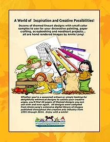 Apple Kids and Acorn Frolics Linework Pattern Book Back Cover