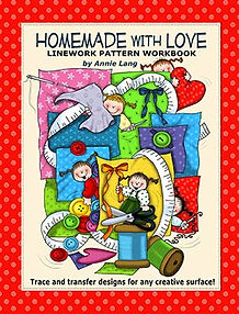 Annie Lang's Homemade With Love Linework Pattern Book Cover