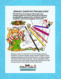 Annie Lang's Christmas Jingles and Santa Kringles Line Art Patterns