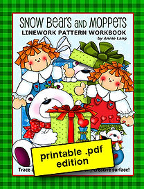 Annie Lang's Snow Bears and Moppets Linework Pattern Book PDF