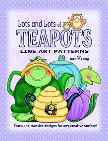 Lots and Lots of Teapots Pattern book by Annie Lang Paperback Edition