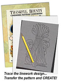 Thankful Bounty Linework Pattern Sample Page