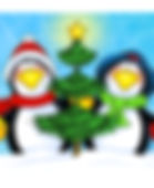 Christmas Penguin Pair