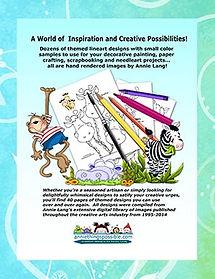Safari Animals Jamboree  Linework Pattern Book Back Cover