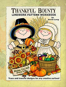 Annie Lang's Thankful Bounty Linework Pattern Book Cover
