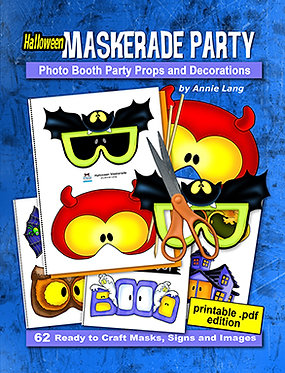 Halloween Maskerade Party Activity Book