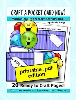 Annie Lang's Craft a Pocket Card papercraft activity book