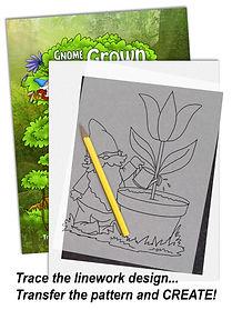 Gnome Book Line Art Patterns