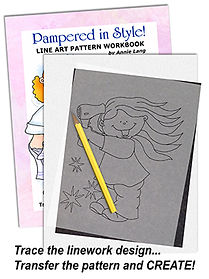 Annie Lang's Pampered in Style Line Art