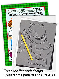 Snow Bears and Moppets Linework Pattern Sample Page
