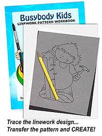 Busybody Kids Linework Pattern Sample Page