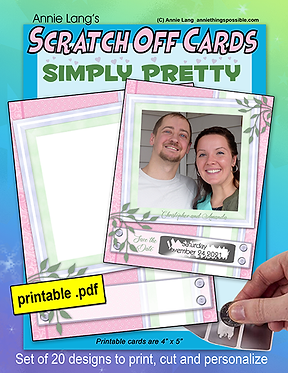 Scratch Off Cards: Simply Pretty