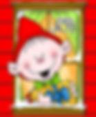 Joyful Holiday Window Elf