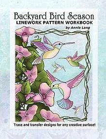 Backyard Bird Season Linework Pattern Book