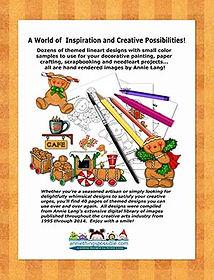 Gingerbread 'n Java Linework Pattern Book Back Cover