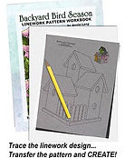 Annie Lang's Backyard Bird Season and more Line Art Pattern books