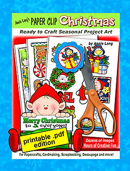 Annie Lang's Paper Clip Christmas ready to craft seasonal project art project book .pdf edition