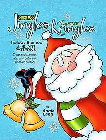 Annie Lang's Jingle Bells and Santa Kringles line art patterns